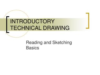 INTRODUCTORY TECHNICAL DRAWING