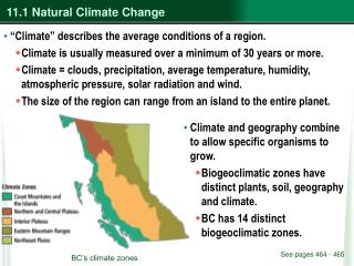 11.1 Natural Climate Change