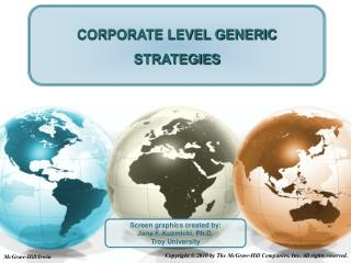 CORPORATE LEVEL GENERIC STRATEGIES