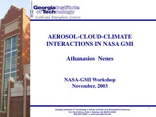 Georgia Institute of Technology • School of Earth and Atmospheric Sciences