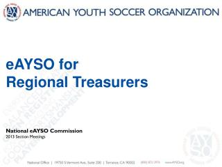 eAYSO for Regional Treasurers