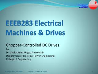 EEEB283 Electrical Machines & Drives