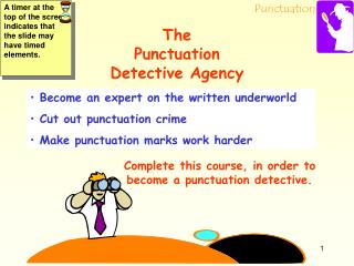 The  Punctuation  Detective Agency