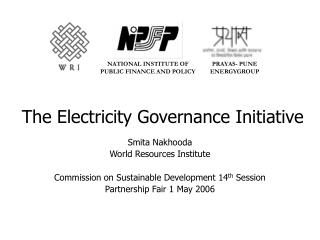The Electricity Governance Initiative
