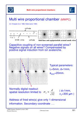 Multi wire proportional chambers