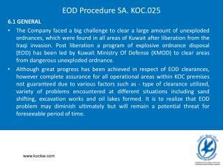 EOD Procedure SA. KOC.025