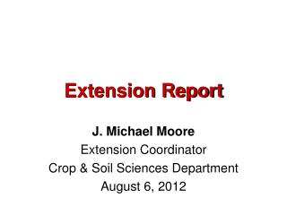 Extension Report