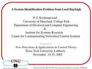 A System Identification Problem from Lord Rayleigh
