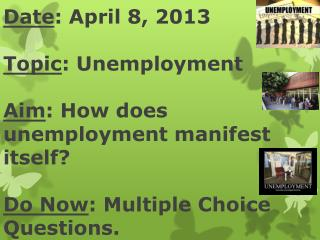 Why do we have unemployment?