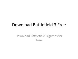 Download Battlefield 3 Free