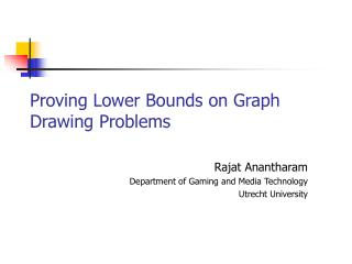 Proving Lower Bounds on Graph Drawing Problems