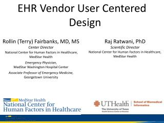 EHR  Vendor User Centered Design