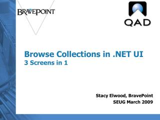 Browse Collections in .NET UI 3 Screens in 1