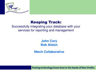 John Cory Bob Alston Ntech Collaborative