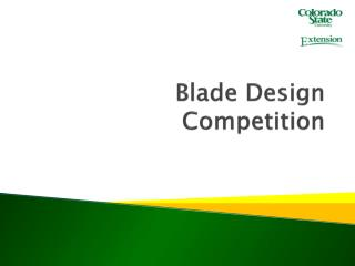 Blade Design Competition