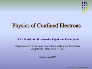 Physics of Confined Electrons