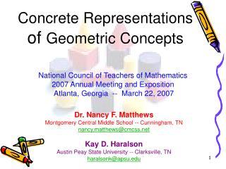 Concrete Representations of Geometric Concepts
