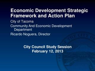 Economic Development Strategic Framework and Action Plan
