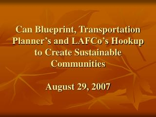Blueprint Smart Growth Principles