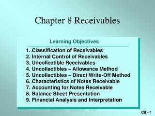 Chapter 8 Receivables