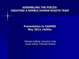 Michael Gottheil, Executive Chair Social Justice Tribunals Ontario
