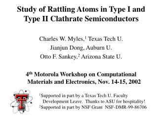 Study of Rattling Atoms in Type I and Type II Clathrate Semiconductors