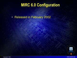 MIRC 6.0 Configuration