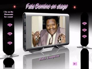 Fats Domino on stage