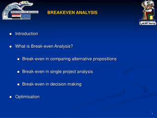 BREAKEVEN ANALYSIS