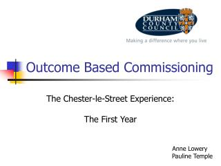 Outcome Based Commissioning