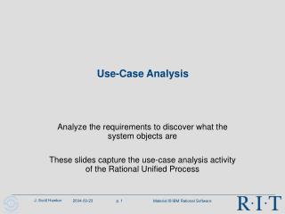 Use-Case Analysis