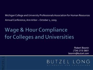 Wage & Hour Compliance for Colleges and Universities