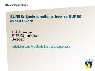 EURES: Basic functions, how do EURES experts work