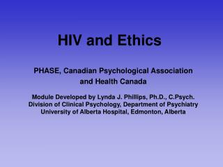 HIV and Ethics