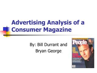 Advertising Analysis of a Consumer Magazine