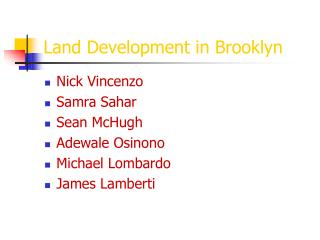 Land Development in Brooklyn