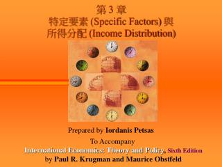 第  3  章 特定要素  (Specific Factors)  與 所得分配  (Income Distribution)