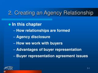 2. Creating an Agency Relationship