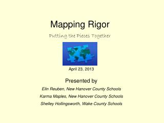 Mapping Rigor Putting the Pieces Together