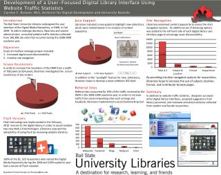 Development of a User-Focused Digital Library Interface Using  Website Traffic Statistics
