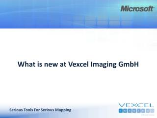 What is new at Vexcel Imaging GmbH