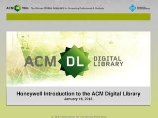 Very Briefly About ACM