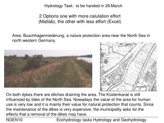 Hydrology Task:  to be handed in 29.March