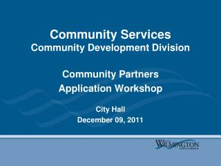 Community Services  Community Development Division