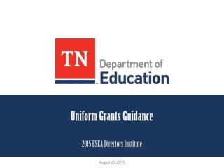 Uniform Grants Guidance
