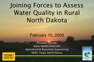 Joining Forces to Assess Water Quality in Rural  North Dakota