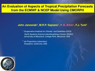 An Evaluation of Aspects of Tropical Precipitation Forecasts