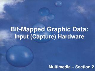 Bit-Mapped Graphic Data: Input (Capture) Hardware