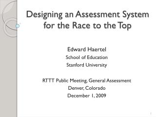 Designing an Assessment System for the Race to the Top