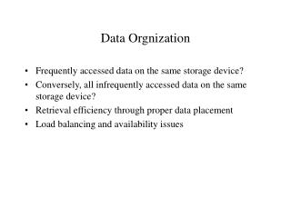 Data Orgnization
